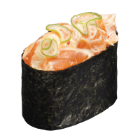 Sushi Spicy Salmon Gunkan