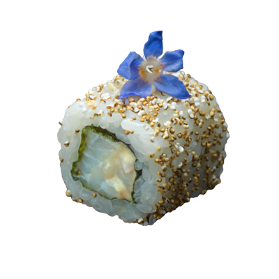 Seabream smoked herring mousse roll